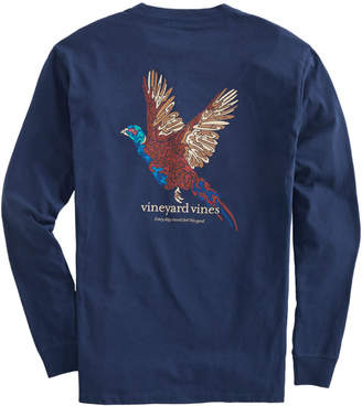 Vineyard Vines Big & Tall Camo Pheasant Long-Sleeve Pocket Tee
