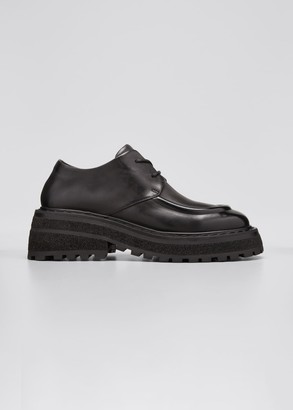Marsèll Leather Lug-Sole Derby Loafers