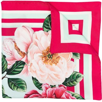 Dolce & Gabbana Floral Square Scarf