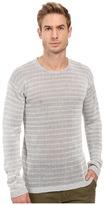 John Varvatos Striped Long Sleeve Crew Neck Sweater Y1313S2B