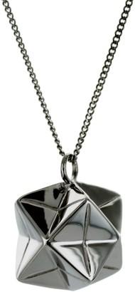 Origami Jewellery Magic Ball Necklace Gun Metal