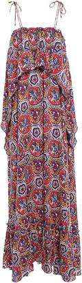 Antik Batik Sam Layered Printed Voile Maxi Dress
