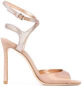 Jimmy Choo Helen sandals - women - Leather/Acetate/Satin - 35