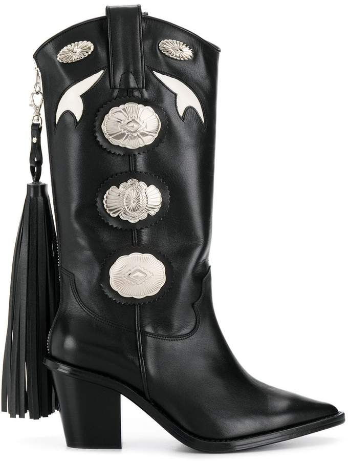 ec41a5782f3 tassel detail cowboy boots