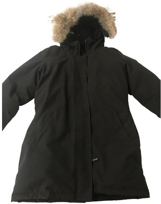 Canada Goose Victoria Black Fur Coat for Women