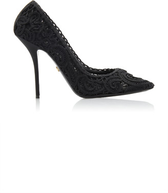 Dolce & Gabbana Embroidered Lace Pumps