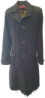 Diesel Black Wool Coat for Women