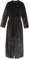 Pologeorgis The Sphinx Metallic Black Fur Coat
