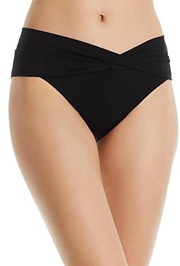 Robin Piccone Ava Solid Twist-Front Bikini Bottom