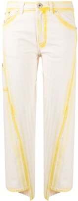 Lanvin contrasting seams cropped jeans