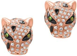 Effy 14K Rose Gold Tsavorite Earrings with 0.45 CT. T.W. Diamonds