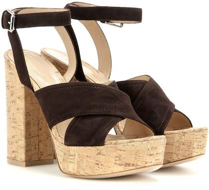 Gianvito Rossi mytheresa.com exclusive Suzie suede platform sandals