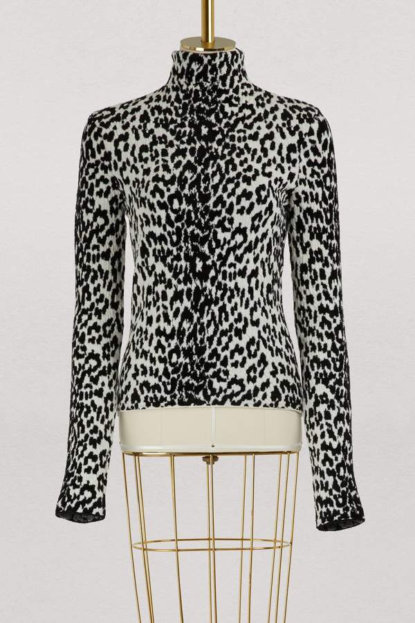 Givenchy Leopard printed turtle-neck