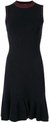 Victoria Beckham Knitted Peplum Hem Dress