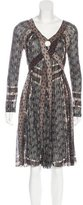 Jean Paul Gaultier Abstract Pattern A-Line Dress