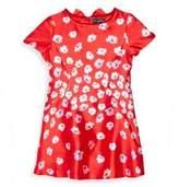 Oscar de la Renta Toddler's, Little Girl's & Girl's Floral Print Short-Sleeve Dress