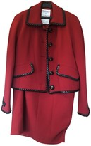Chanel Red Wool Skirt for Women Vintage