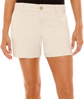 Liz Claiborne Stretch Twill Shorts - Tall