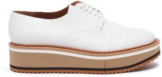 Clergerie 'Brook' Lambskin Leather Platform Derby Shoes