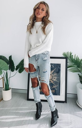Beginning Boutique Zane Ripped Jeans Blue
