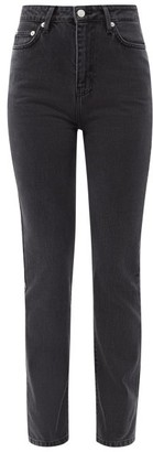 Officine Generale Lilou High-rise Straight-leg Jeans - Black Grey