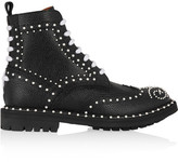 Givenchy Ankle Boots In Faux Pearl-embellished Black Textured-leather - IT41