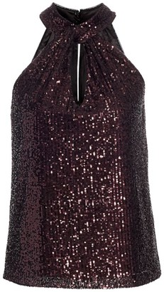 Parker Dallas Sequin Halter Top