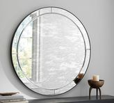 Pottery Barn Walker Antiqued Round Glass Mirror