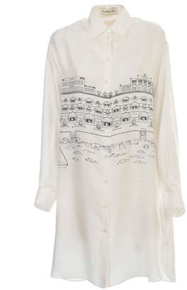 Lanvin Dress L/s Shirt Neck