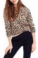 J.Crew J. CREW Cheetah Print Merino Wool Sweatshirt