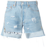 Forte Couture - distressed denim shorts - women - Cotton - 26