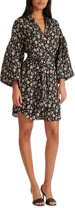 Veronica Beard Samy Floral Dress with Pockets