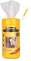 """Fellowes Screen Cleaning Wet Wipes, 5.12"""" x 5.90"""", 100/Tub, Sold as 2 Each"""