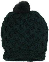 Vince Camuto Women's Tuck Stitch Crochet Edge Slouchy Beanie