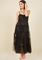 O2 Collection Give Me Gracefulness Full Slip in Black - Maxi