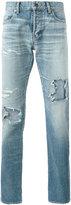 Saint Laurent distressed ripped jeans - men - Cotton - 28
