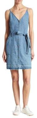 J Brand Carmela Cotton & Linen Chambray Dress