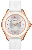 Michele 'Cape' Topaz Dial Silicone Strap Watch, 40mm