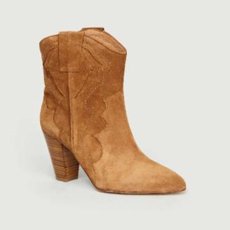 Petite Mendigote Split Cocoa Goat Leather Alberta Ankle Boots - leather   Split Cocoa   37