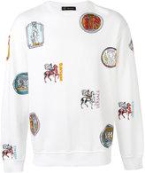 Versace patches print sweatshirt - men - Cotton - L