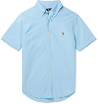 Polo Ralph Lauren Slim-Fit Button-Down Collar Garment-Dyed Cotton-Oxford Shirt