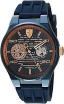 Ferrari Men's 'Speciale Multi' Quartz Stainless Steel and Silicone Casual Watch, Color: (Model: 0830459)