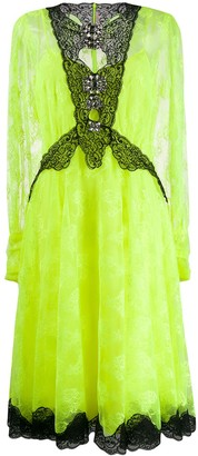 Christopher Kane Neon Lace Dress