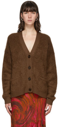 Acne Studios Brown Mohair and Wool Cardigan