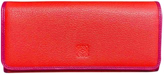 Loewe Red Leather Wallets