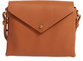 Street Level Faux Leather Envelope Crossbody Bag - Brown