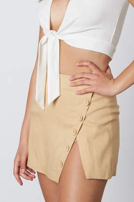 Cotton Candy Button Detail Skirt