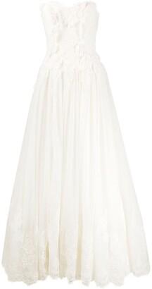 Alberta Ferretti Hermitage strapless dress