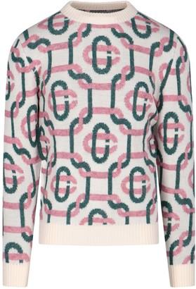 Casablanca Monogram Intarsia Knitted Sweater