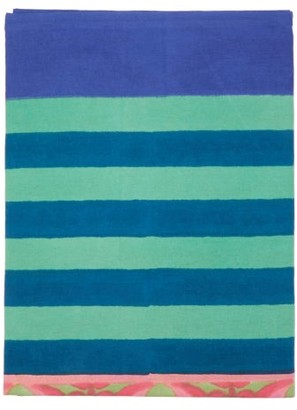 Lisa Corti - Nizam Striped 180cm X 270cm Tablecloth - Green Print
